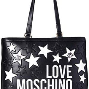 LOVE MOSCHINO – BORSA DA DONNA SHOPPING NERO STELLE