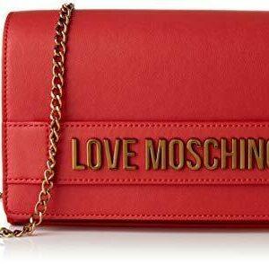 LOVE MOSCHINO – BORSA DA DONNA A TRACOLLA ROSSO LOGO LETTERING JC4103 AI20/21