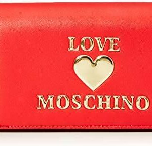 LOVE MOSCHINO – BORSA DA DONNA POCHETTE ROSSO LOGO ORO JC4057 AI20/21