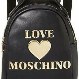 LOVE MOSCHINO – ZAINO ECOPELLE NERO LOGO ORO JC4033 AI20/21