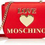 LOVE MOSCHINO – BORSA DA DONNA A TRACOLLA ROSSO LOGO ORO JC4032 AI20/21