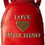 LOVE MOSCHINO – ZAINO ECOPELLE ROSSO LOGO ORO JC4033 AI20/21