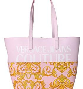 VERSACE JEANS COUTURE – BORSA  SHOPPING ROSA+STAMPA BAROQUE – BG171727