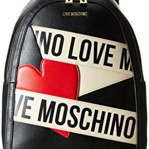 LOVE MOSCHINO -ZAINO DONNA NERO/AVORIO LOGO JC4029 – OCCASIONE SCONTO 35%!!